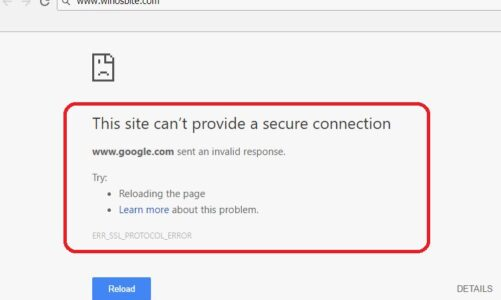 How to Solve ERR_SSL_PROTOCOL_ERROR on Google Chrome? Read Here